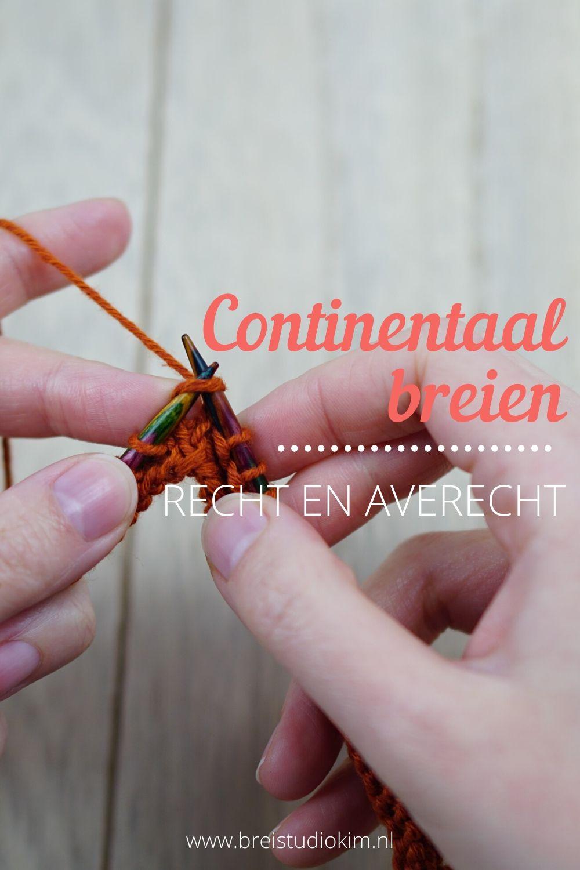 Continentaal Breien - Recht En Averecht 1