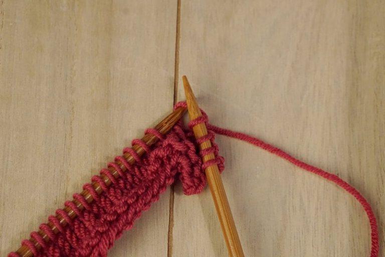 steken goed op de naald breien
