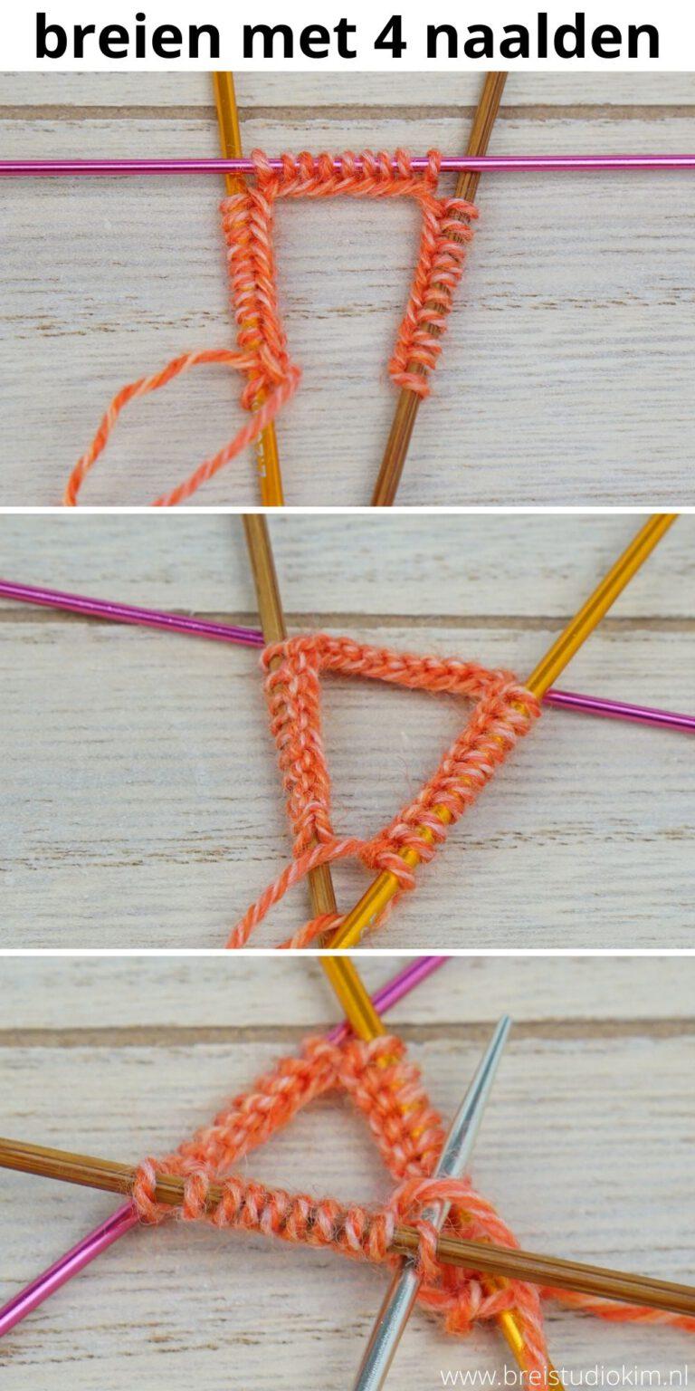 Breien met 4 naalden - Rondbreien met sokkennaalden voor beginners 1