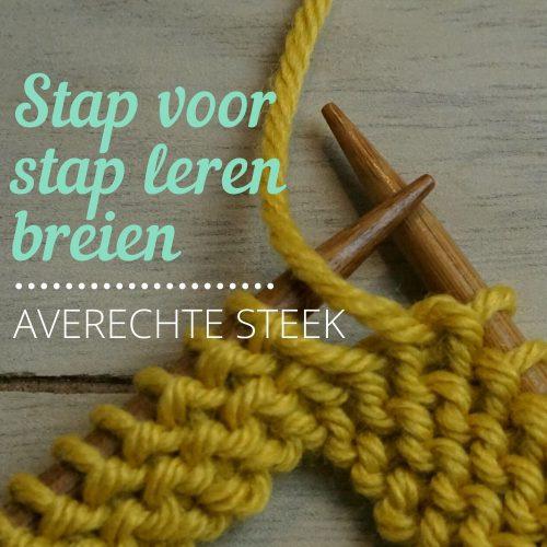 Stap voor stap leren breien - averechte steek